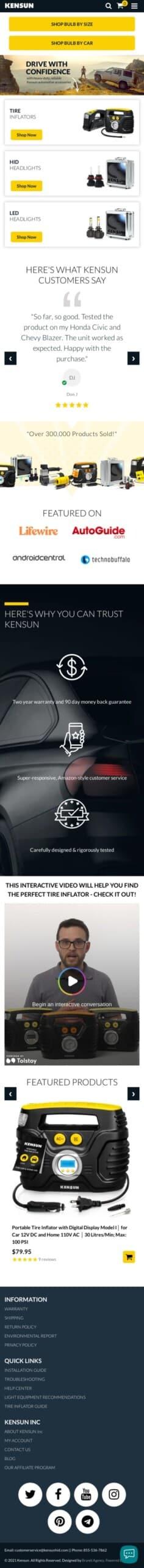 Kensun Automotive Products Coupon