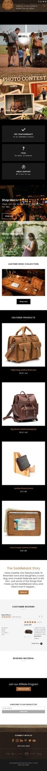 Saddleback Leather Co. Coupon
