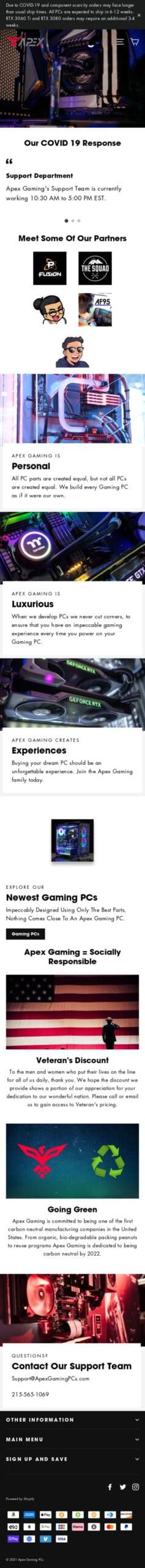 Apex Gaming PCs Coupon