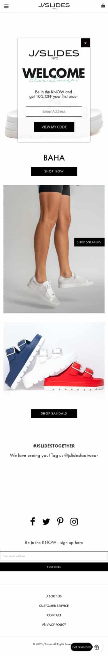 J SLIDES Footwear Coupon