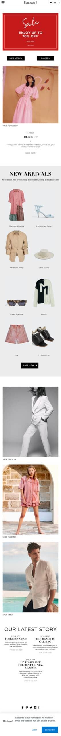 Boutique 1 (US) Coupon